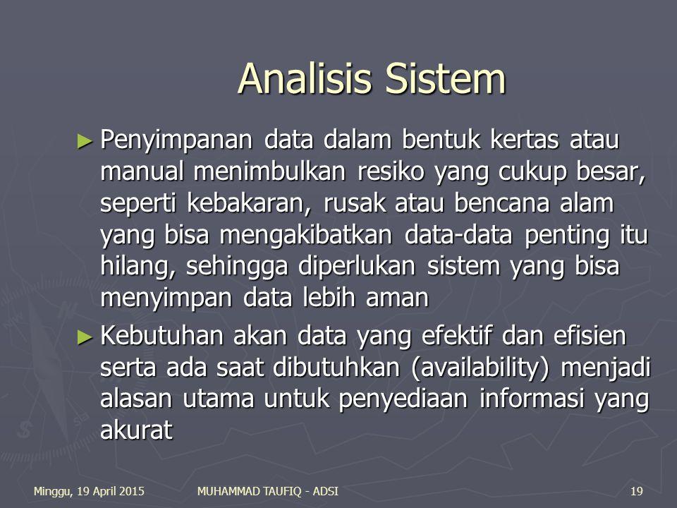 Analisis Sistem