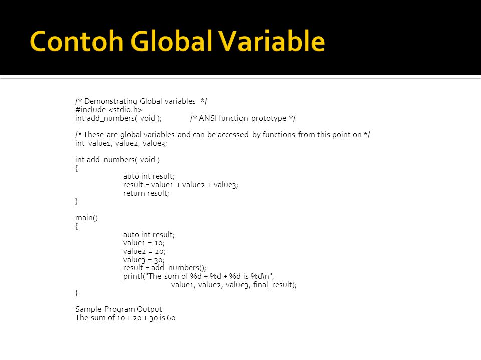 Contoh Global Variable