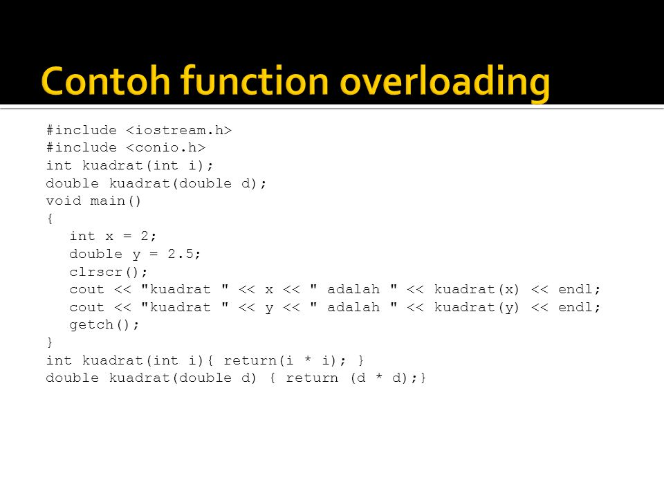 Contoh function overloading