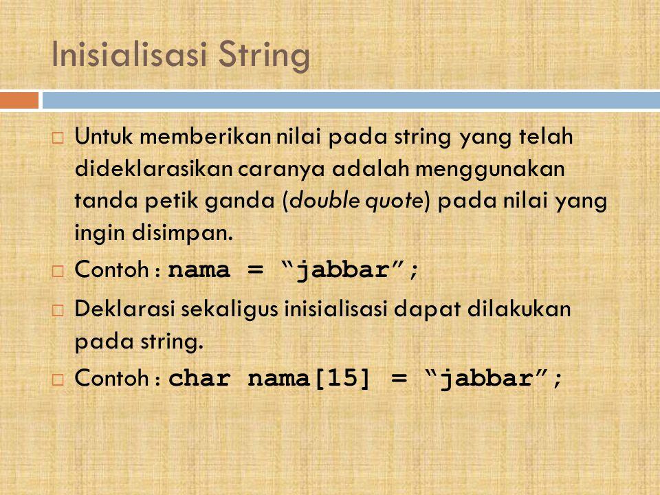 Inisialisasi String
