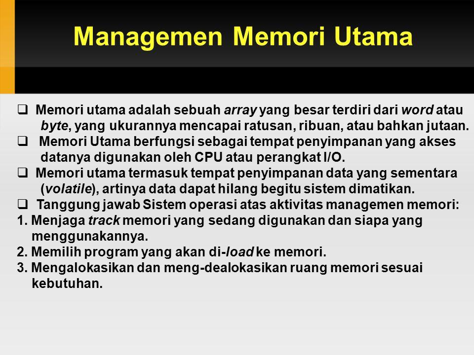 Managemen Memori Utama