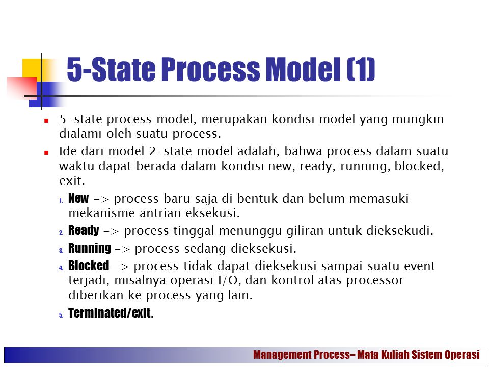 5-State Process Model (1)