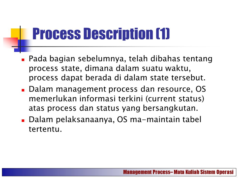 Process Description (1)