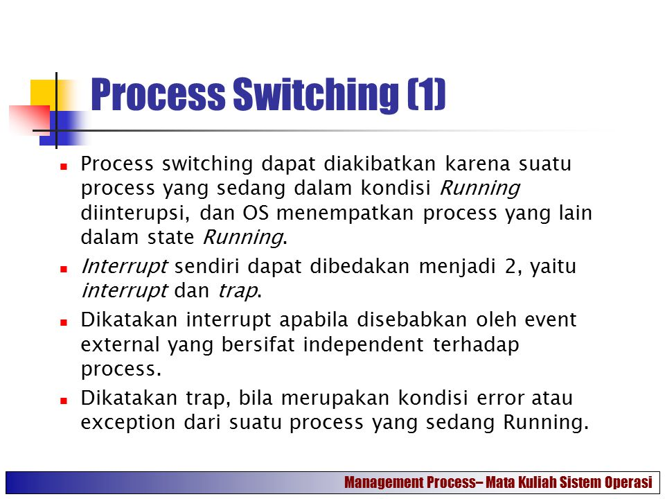 Process Switching (1)