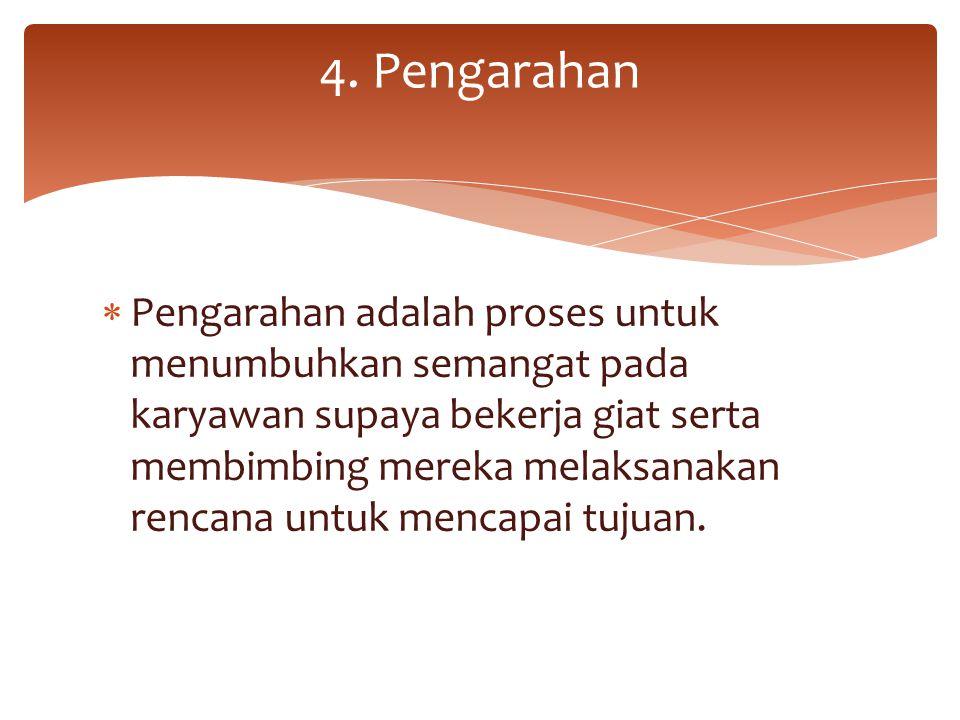 4. Pengarahan