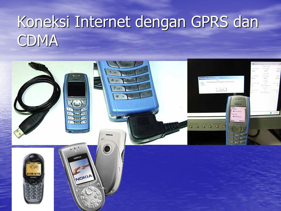 Koneksi Internet dengan GPRS dan CDMA