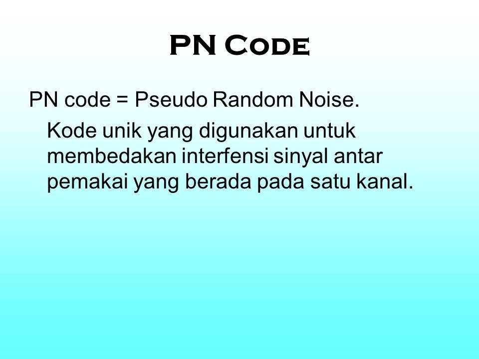 PN Code PN code = Pseudo Random Noise.