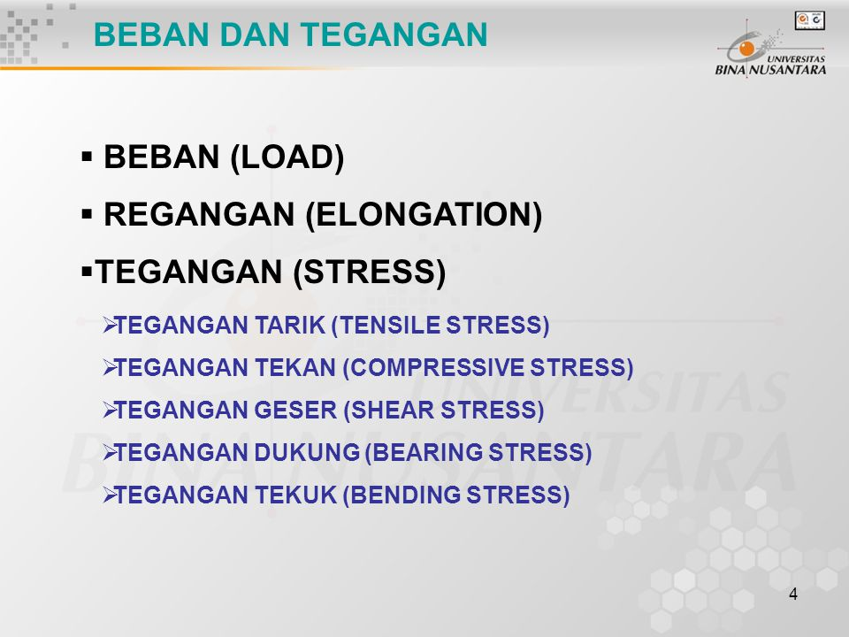REGANGAN (ELONGATION) TEGANGAN (STRESS)