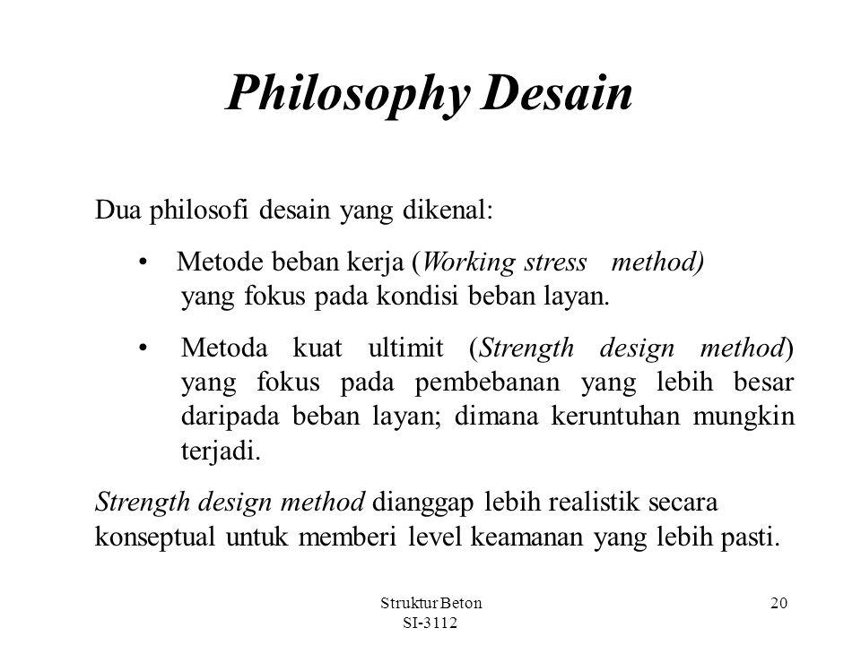 Philosophy Desain Dua philosofi desain yang dikenal: