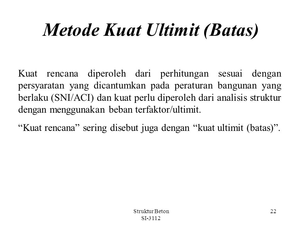 Metode Kuat Ultimit (Batas)