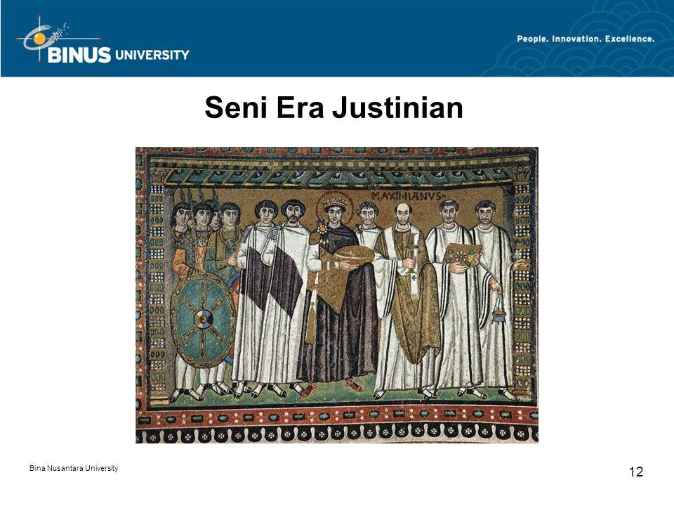 Seni Era Justinian Bina Nusantara University