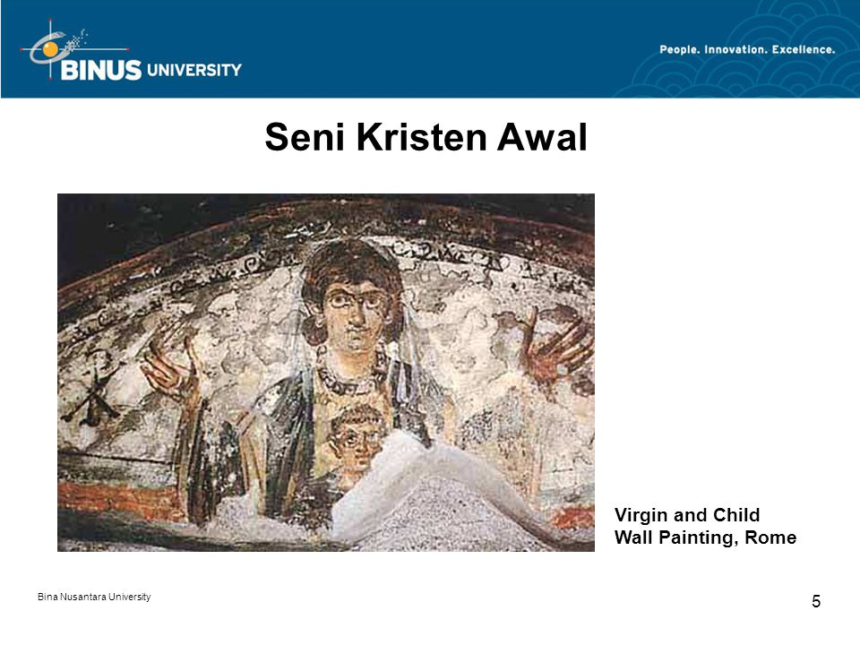 Seni Kristen Awal Virgin and Child Wall Painting, Rome