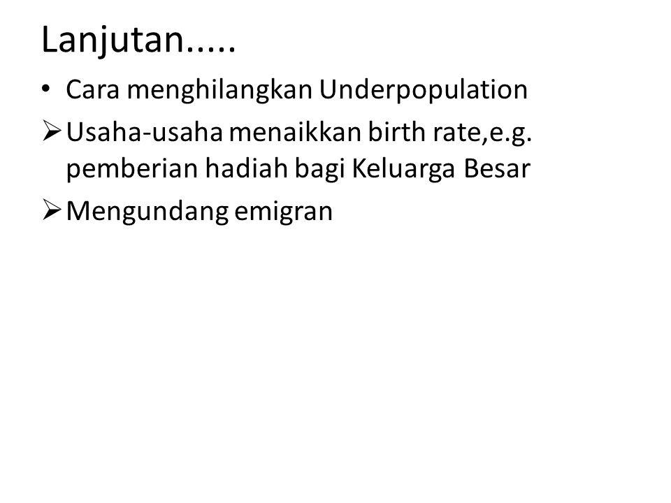 Lanjutan..... Cara menghilangkan Underpopulation