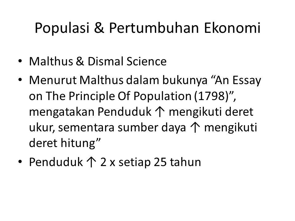 Populasi & Pertumbuhan Ekonomi