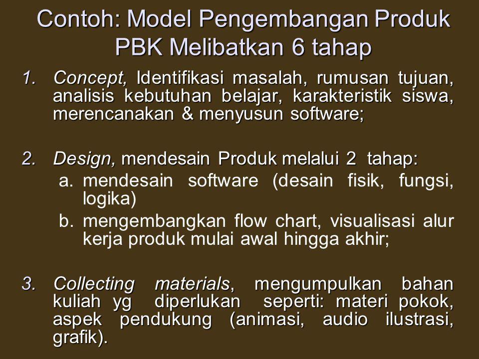 Contoh: Model Pengembangan Produk PBK Melibatkan 6 tahap