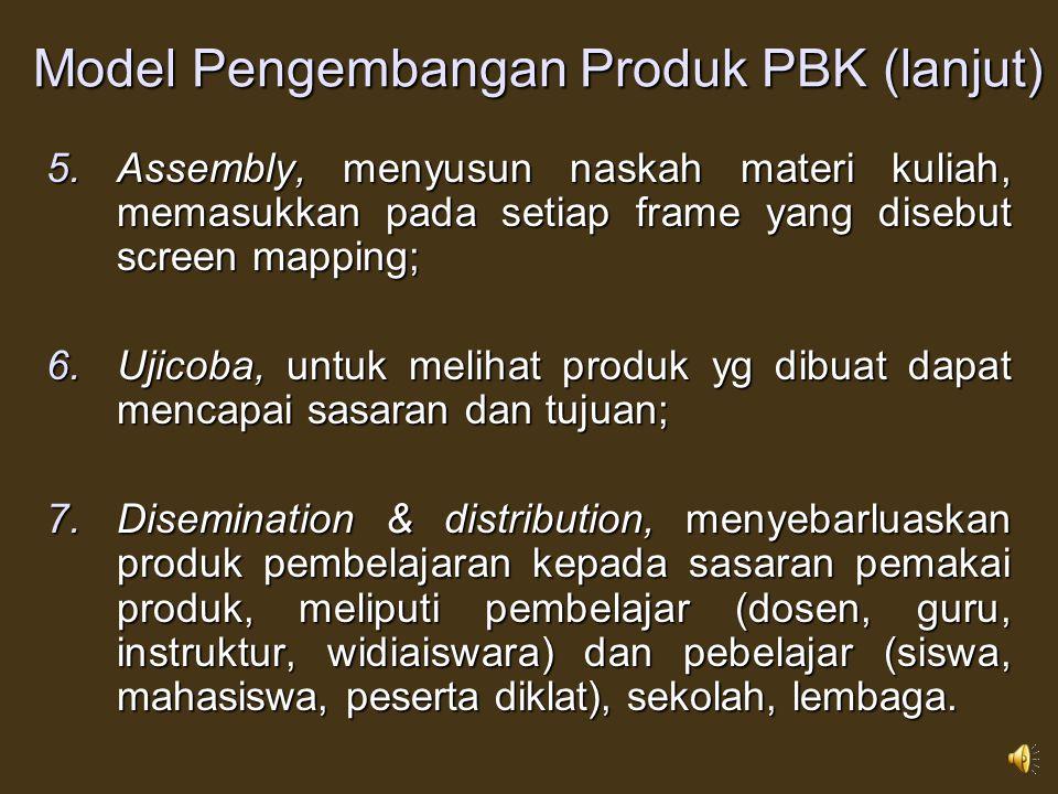Model Pengembangan Produk PBK (lanjut)