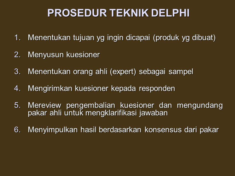 PROSEDUR TEKNIK DELPHI