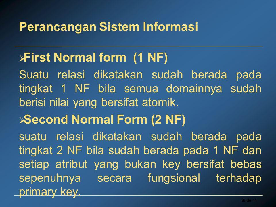 Perancangan Sistem Informasi