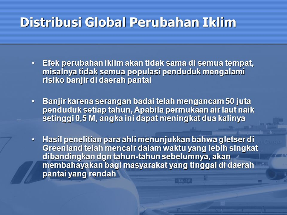 Distribusi Global Perubahan Iklim