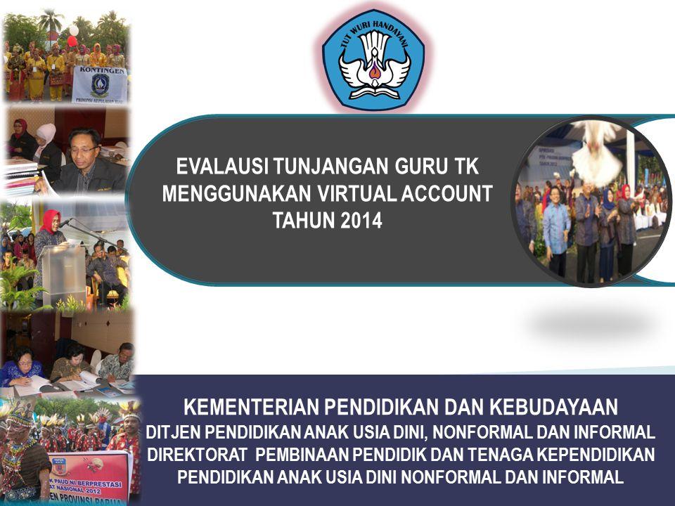 EVALAUSI TUNJANGAN GURU TK MENGGUNAKAN VIRTUAL ACCOUNT TAHUN 2014
