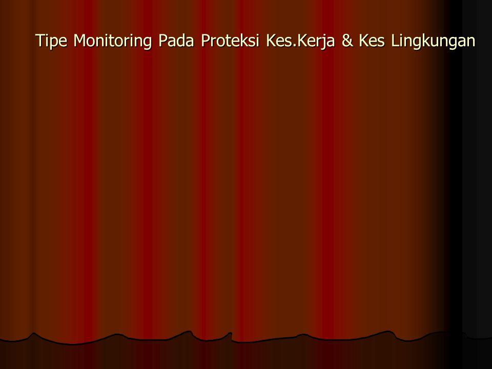 Tipe Monitoring Pada Proteksi Kes.Kerja & Kes Lingkungan