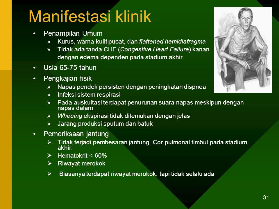 Manifestasi klinik Penampilan Umum Usia 65-75 tahun Pengkajian fisik