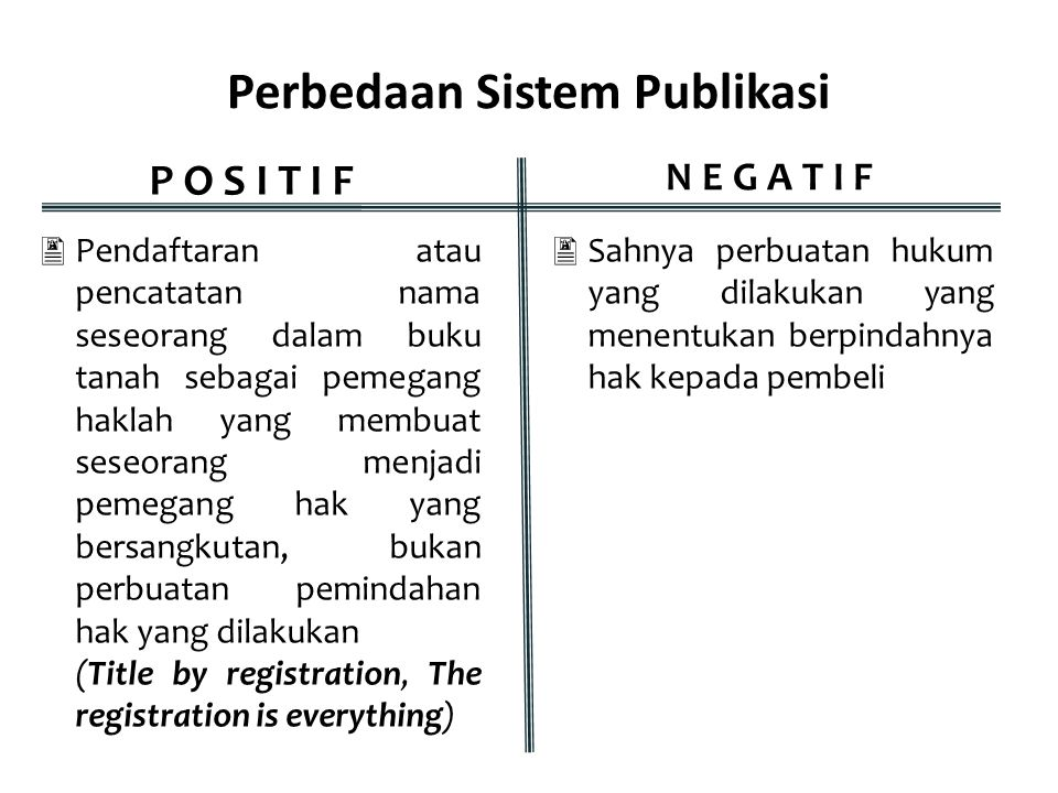 Perbedaan Sistem Publikasi