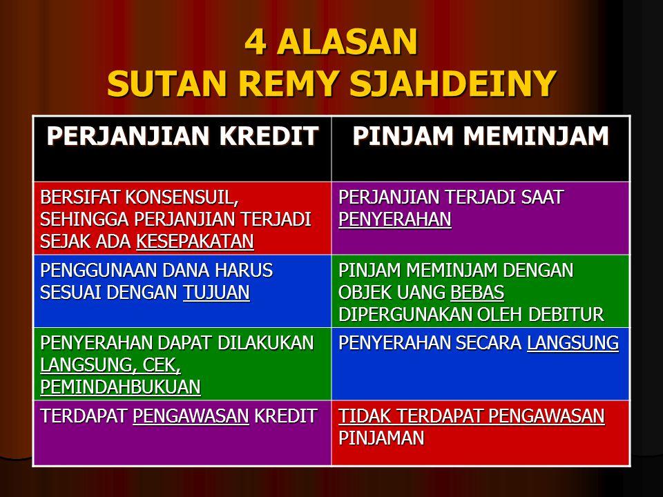 4 ALASAN SUTAN REMY SJAHDEINY