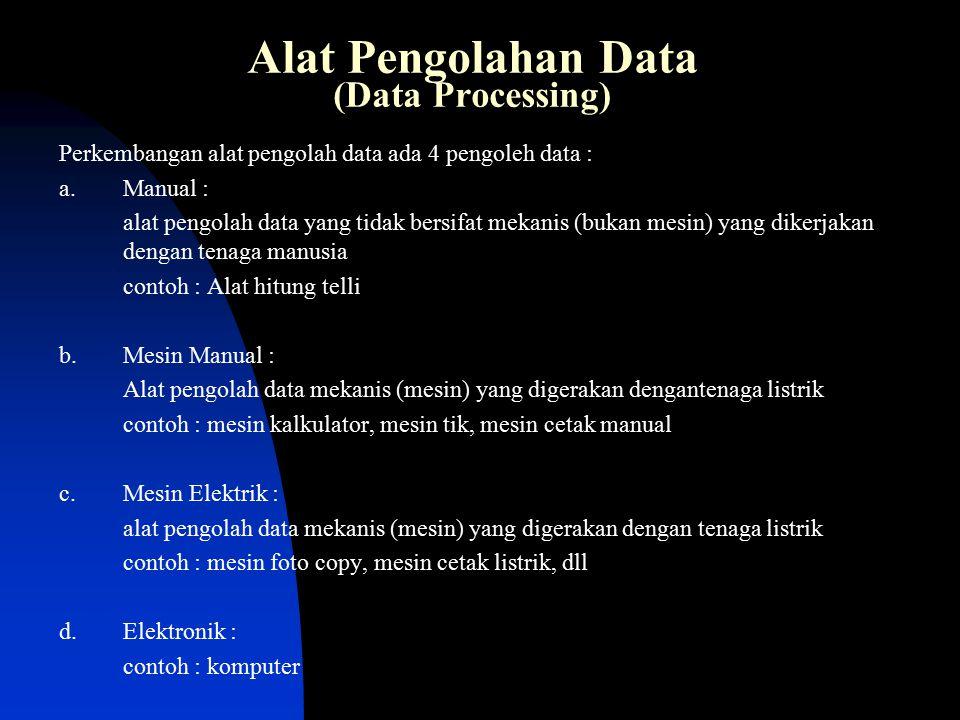 Alat Pengolahan Data (Data Processing)