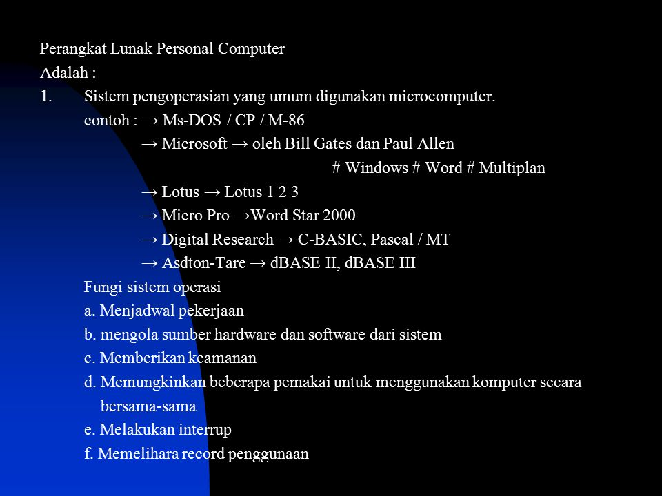 Perangkat Lunak Personal Computer