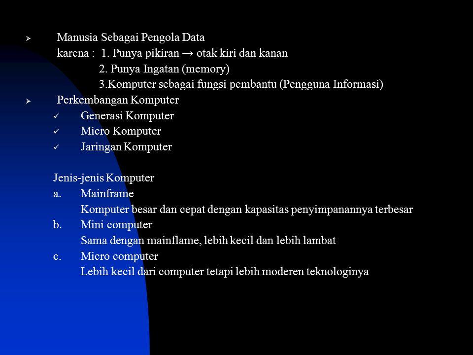 Manusia Sebagai Pengola Data