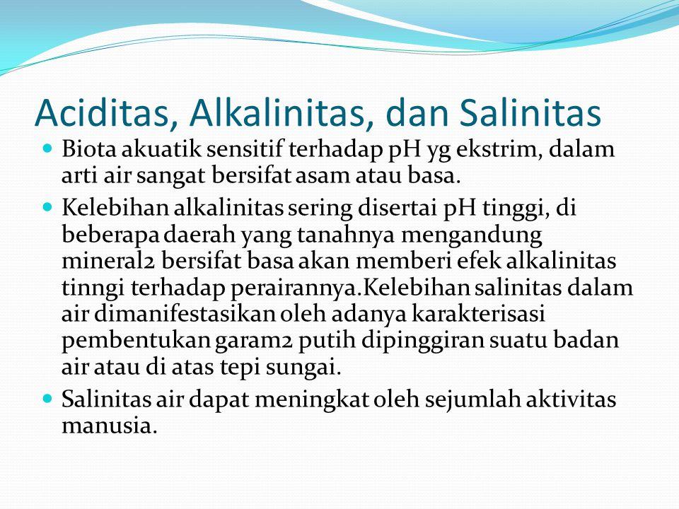 Aciditas, Alkalinitas, dan Salinitas