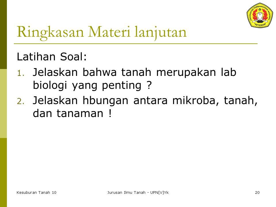 Ringkasan Materi lanjutan