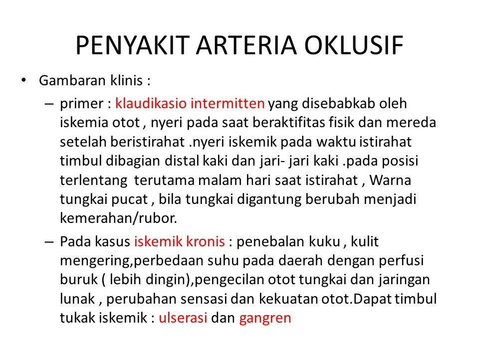 PENYAKIT ARTERIA OKLUSIF