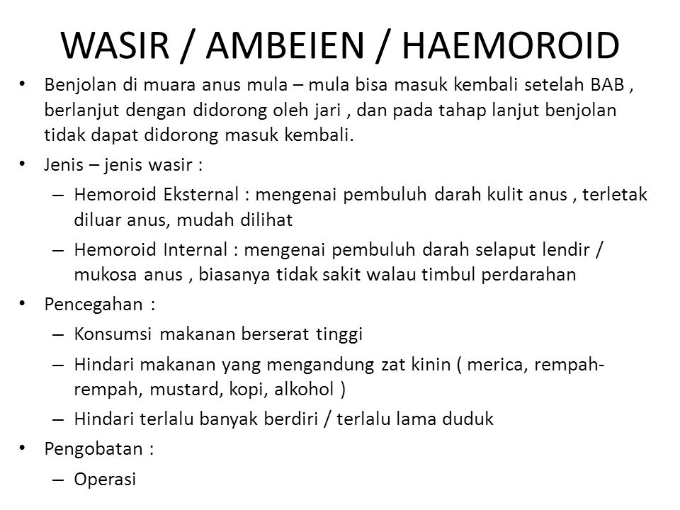 WASIR / AMBEIEN / HAEMOROID
