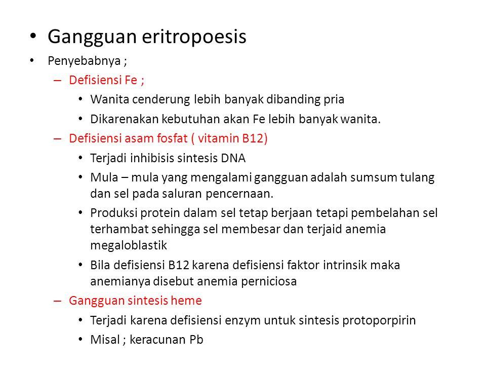 Gangguan eritropoesis