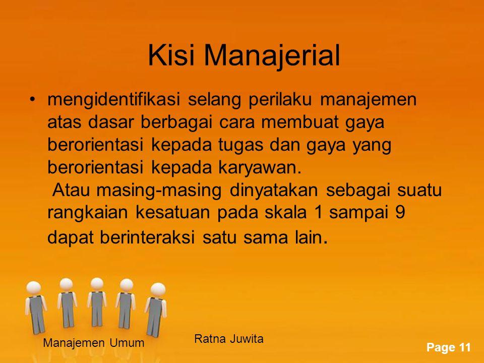 Kisi Manajerial
