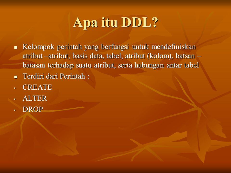 Apa itu DDL