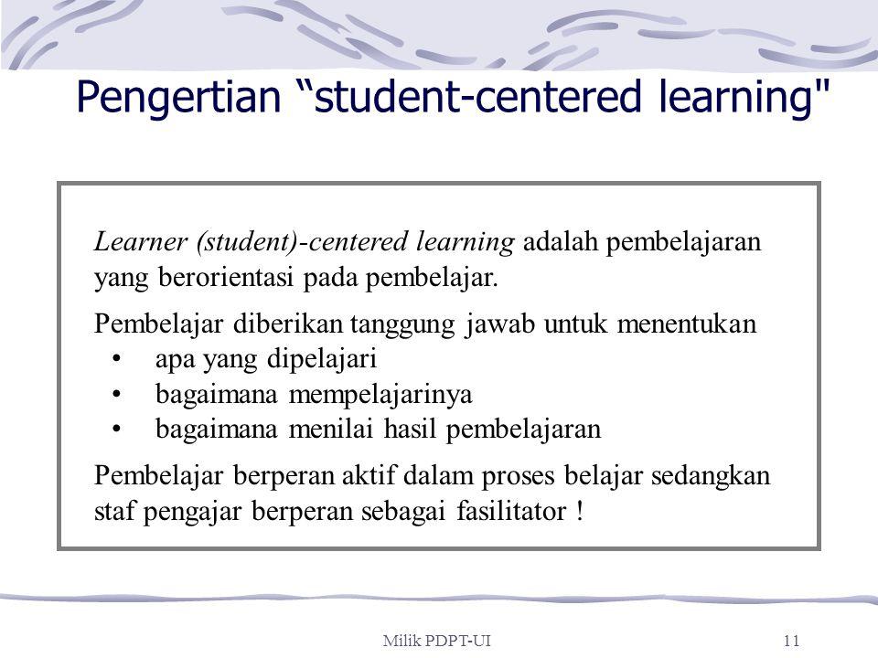 Pengertian student-centered learning