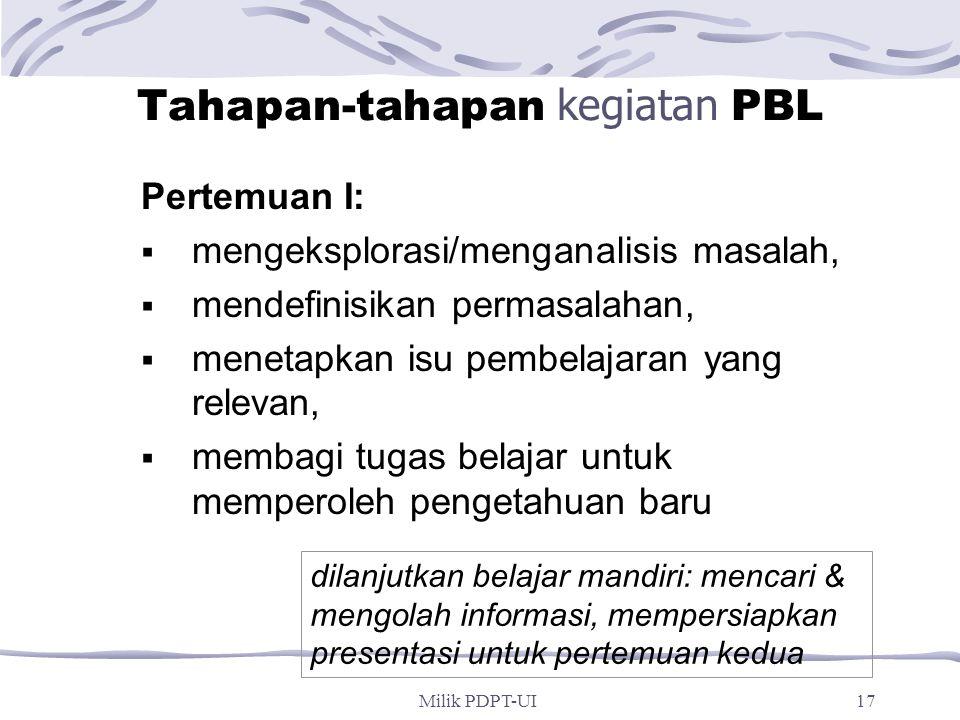 Tahapan-tahapan kegiatan PBL