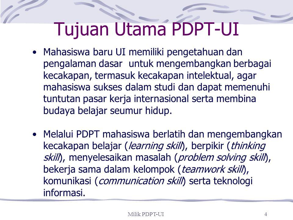 Tujuan Utama PDPT-UI