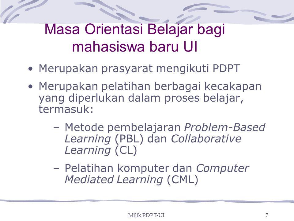 Masa Orientasi Belajar bagi mahasiswa baru UI