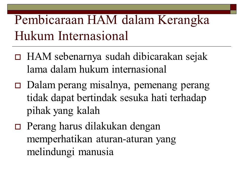 Pembicaraan HAM dalam Kerangka Hukum Internasional