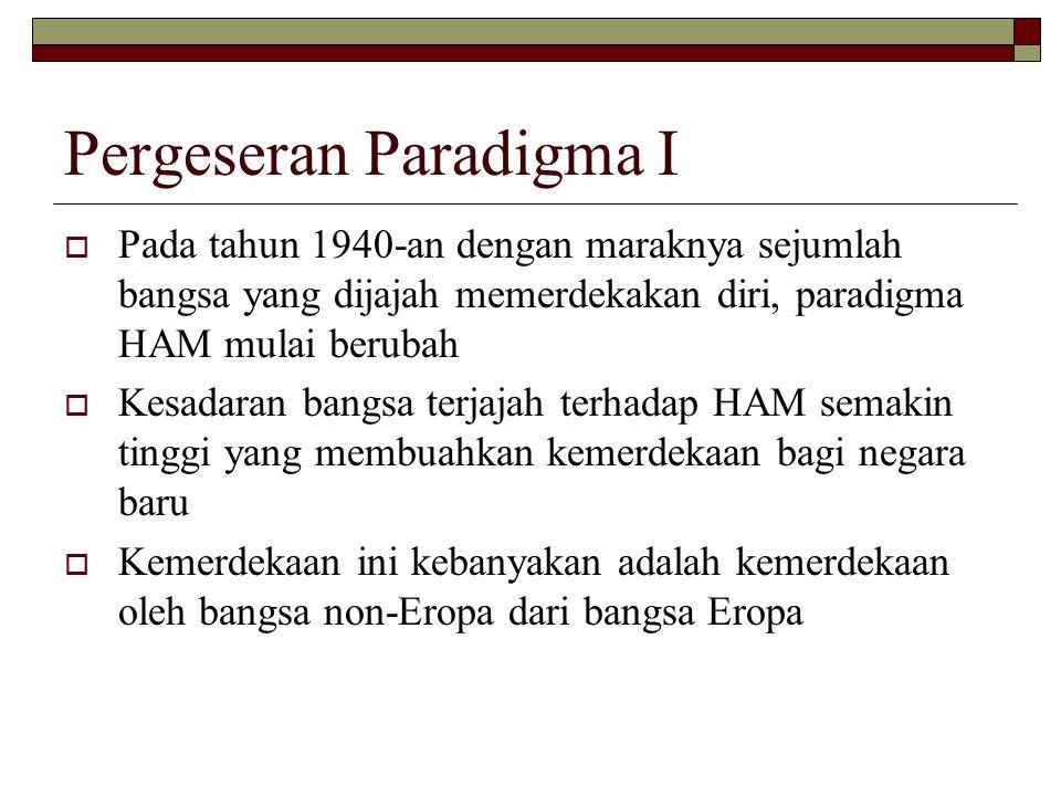 Pergeseran Paradigma I