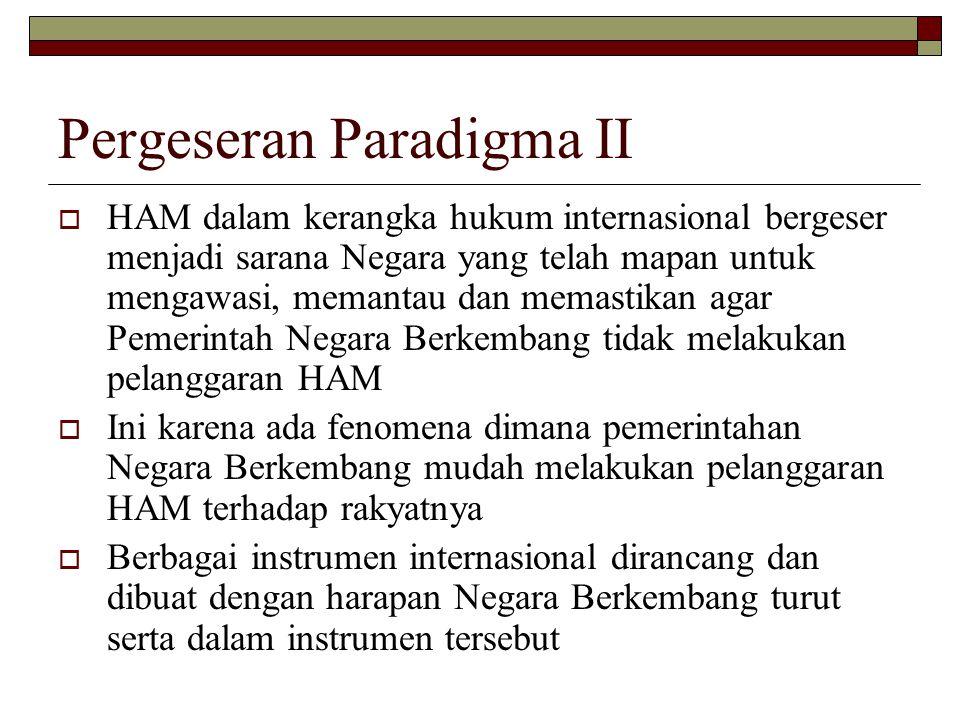 Pergeseran Paradigma II