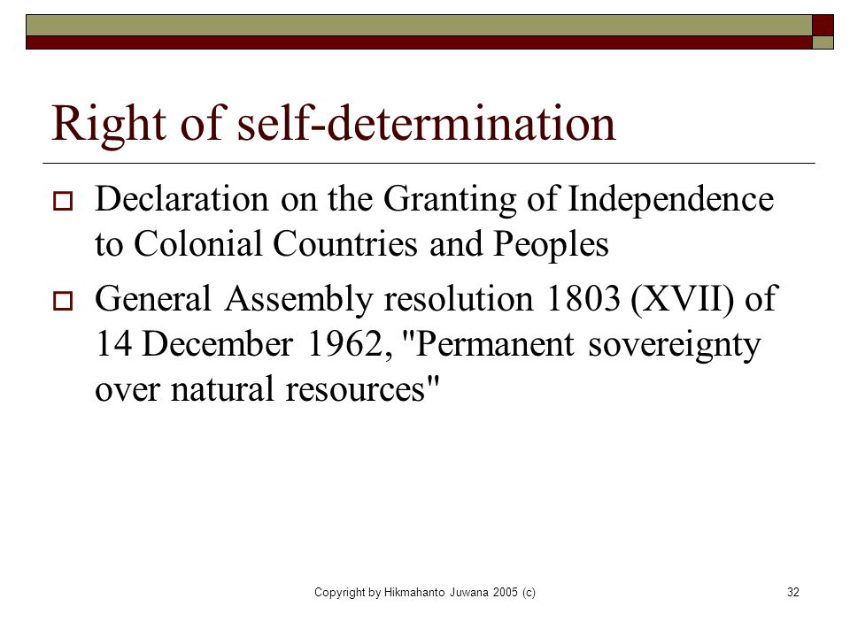 Right of self-determination