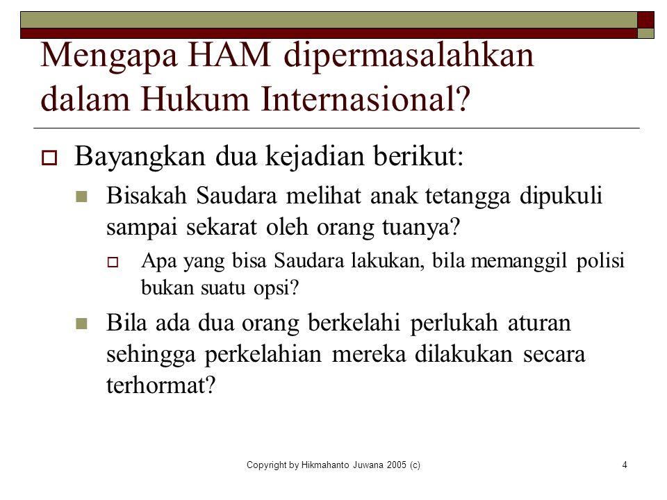 Mengapa HAM dipermasalahkan dalam Hukum Internasional
