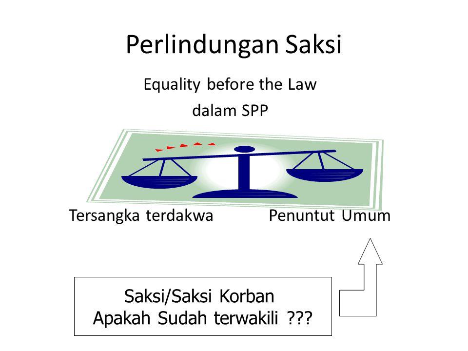 Perlindungan Saksi Equality before the Law dalam SPP