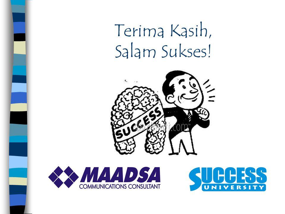 Terima Kasih, Salam Sukses!
