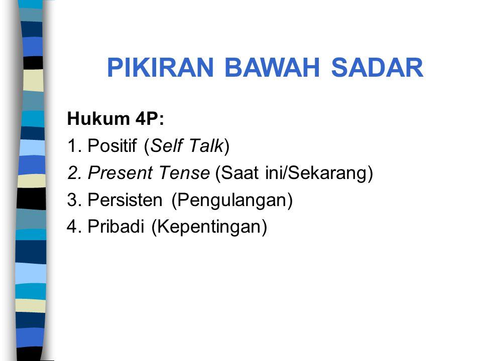 PIKIRAN BAWAH SADAR Hukum 4P: 1. Positif (Self Talk)